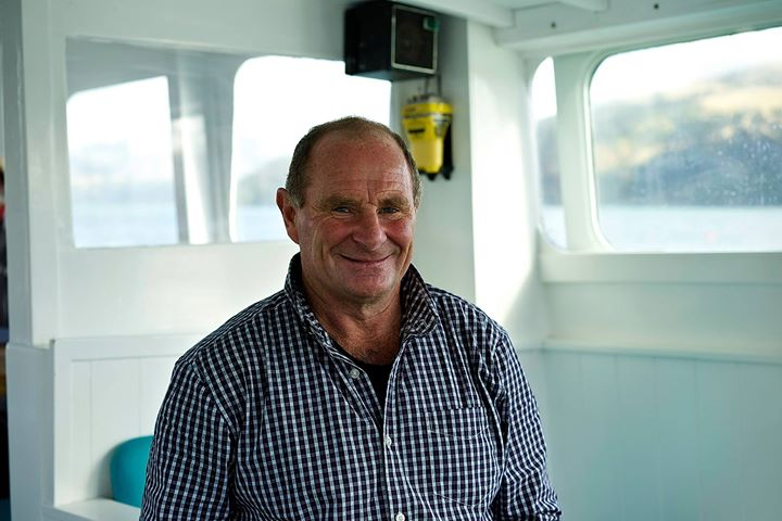 Tom, boat captain in Akaroa