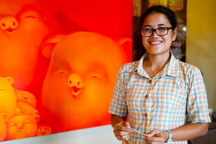 Ms. Marsini at The Tama Gallery, Ubud, Bali