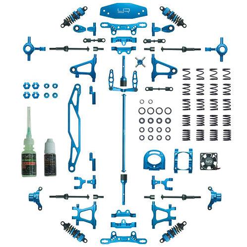 YEAH RACING TAMIYA TT-02 FULL ALLOY UPGRADE KIT PART#CK-TT02BU, CK-TT02RD