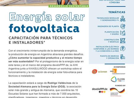 Capacitación sobre Instalación de paneles fotovoltaicos