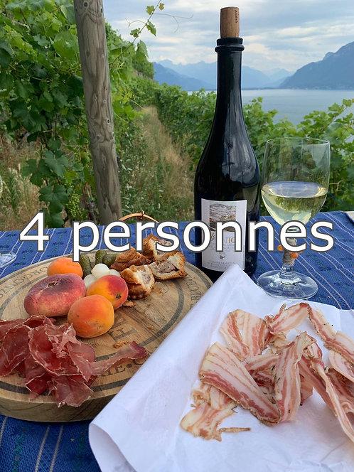 Balade avec dégustation, 4 participants,  CHF 100.- / pers.