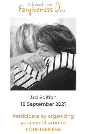 Presentation leaflet of the 2021 International Forgiveness Day