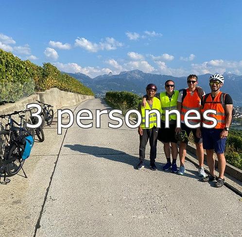 E-bike en Lavaux, 3 participants, CHF 175.- / pers.