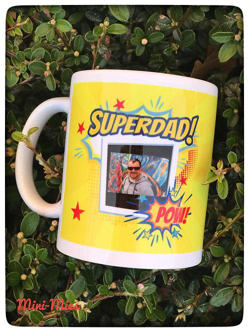 Mok Superdad met eigen foto