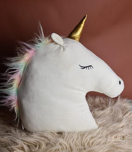 Unicorn kussen met naam