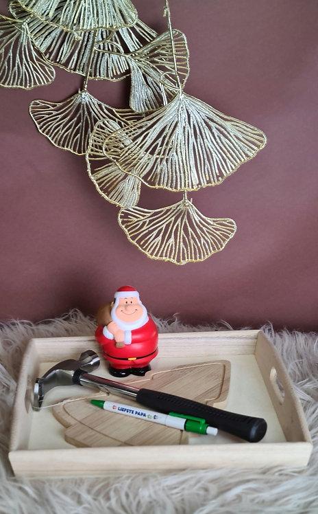 Kerstboom snijplank set Papa