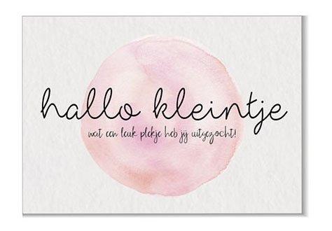 Hallo kleintje roze