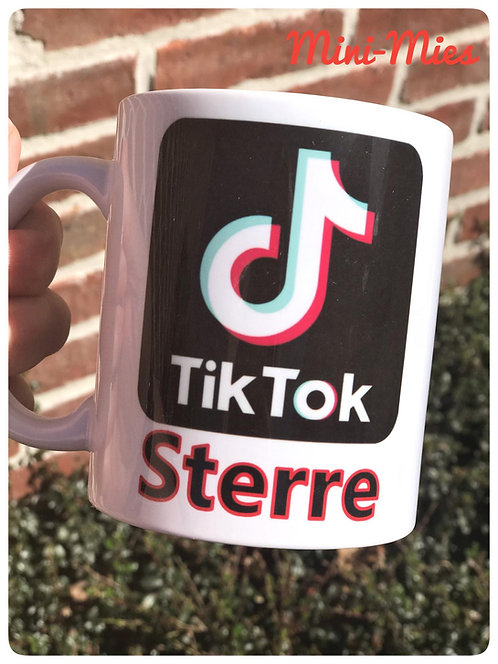 Mok TikTok met naam naar keuze