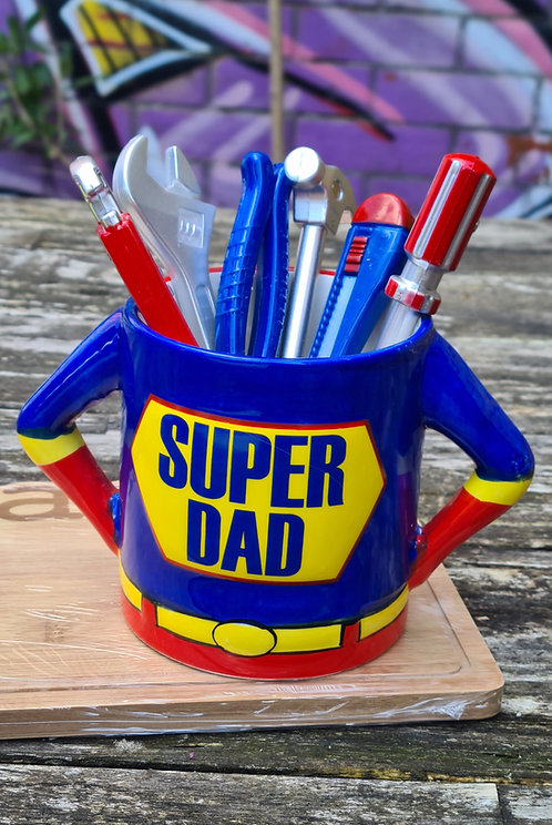 SuperDad mok met gereedschap-balpennen