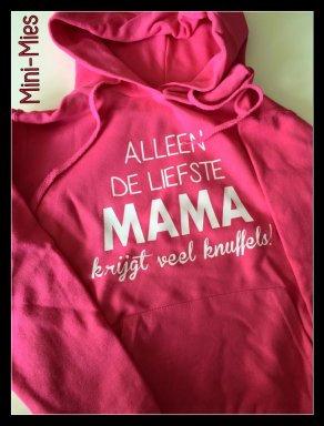 Bedrukte hoodie mama