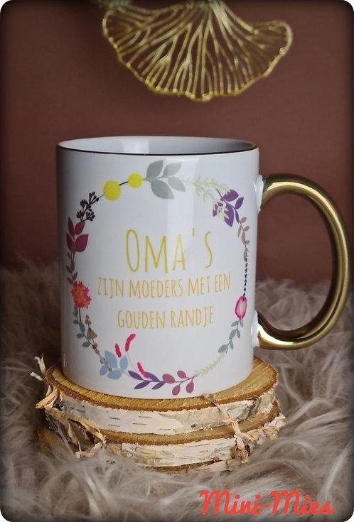 Gouden rand MOK : Oma