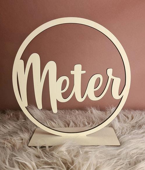 Naamcirkel met staander Meter of Peter
