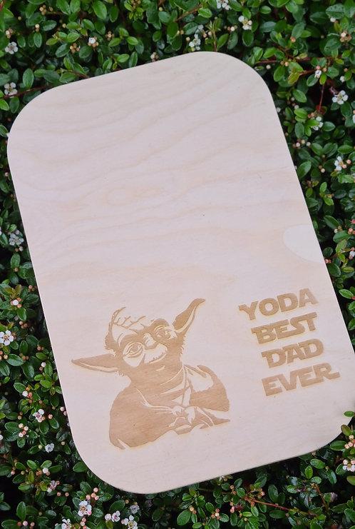 Houten bord Yoda Best dad ever
