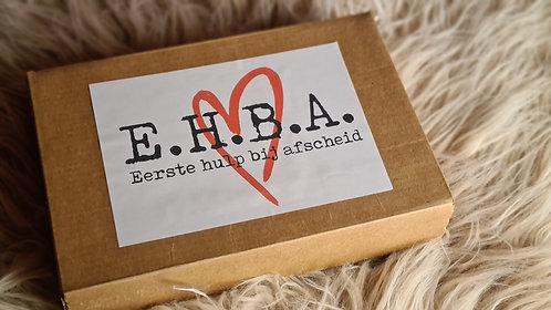E.H.B.A. Eerste Hulp Bij Afscheid doosje