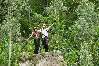 Couple Of Tourists In Ecuadorian Andes R