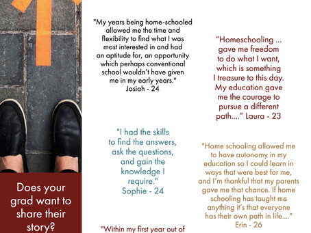 Grad Stories: What's next in the life of a homeschool graduate?
