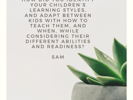 Homeschool Q & A #3: Learning Styles