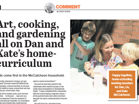 Art, cooking, and gardening all on Dan and Kate's home-curriculum