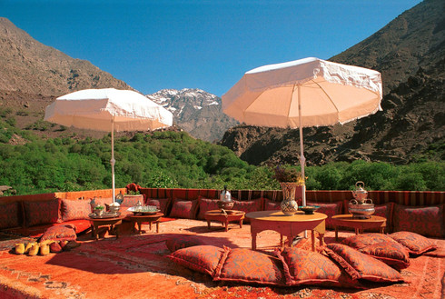 Morocco Kasbah Terrace Atlas Mountains walking hiking tour
