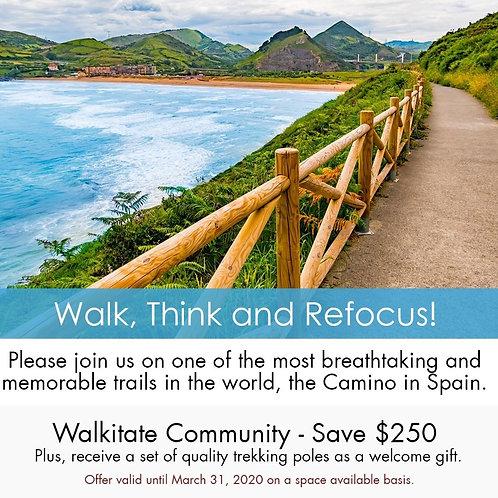 Camino de Santiago - Walkitate, 11-Day Tour, Trip Deposit