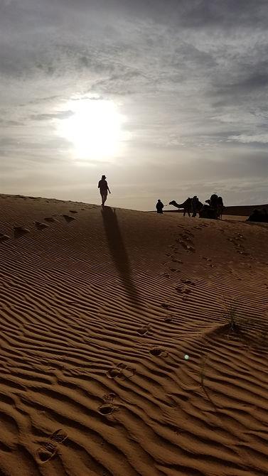 sahara desert morocco hiking walking tour