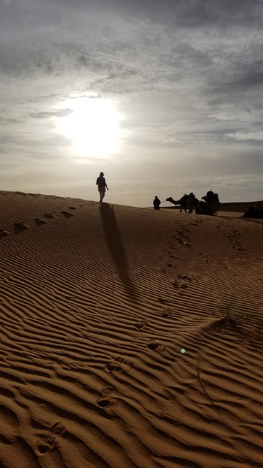 sahara desert morocco hiking walking tour