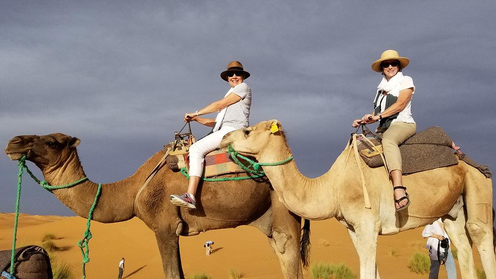 camel rides sahara desert walking hiking tour morocco