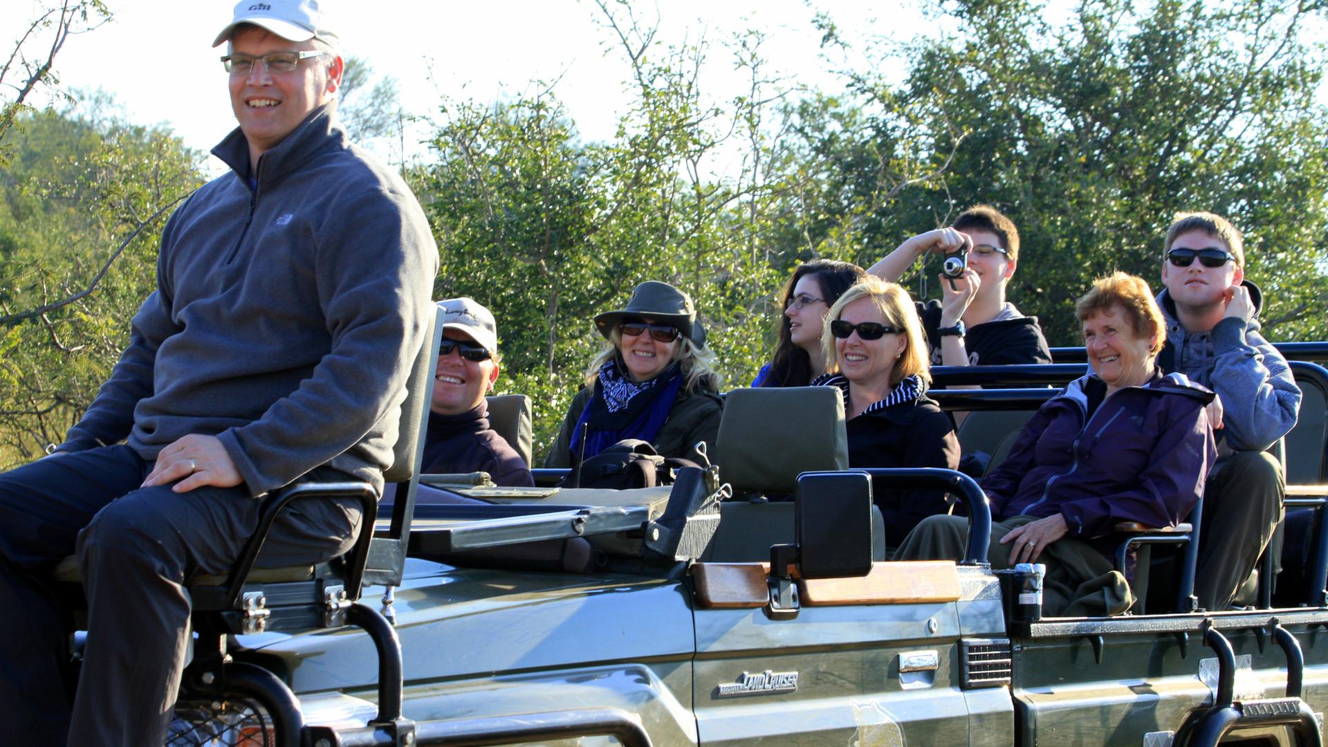 Denis Morris (Team Diabetes Member) & Family on Safari
