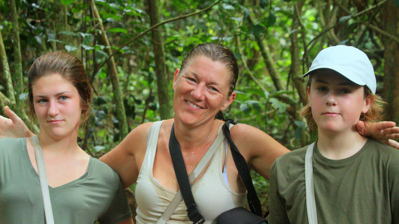 Michelle (Team Diabetes Member) & Family on Safari