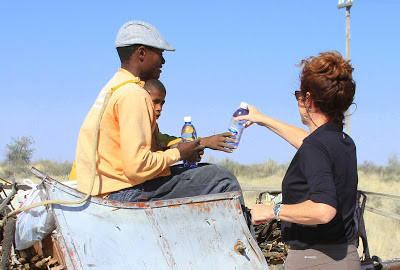 Water, Sharing water, desert bottled water