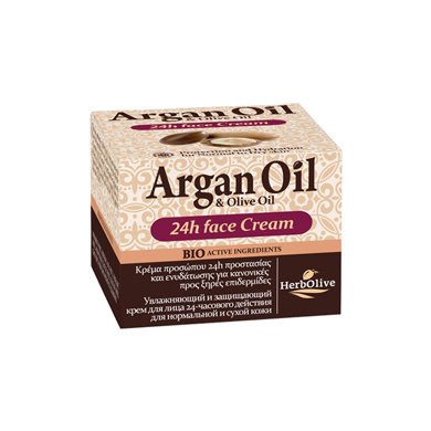 Argan oil Olive oil Face Cream 24Hours Normal and Dry Skin