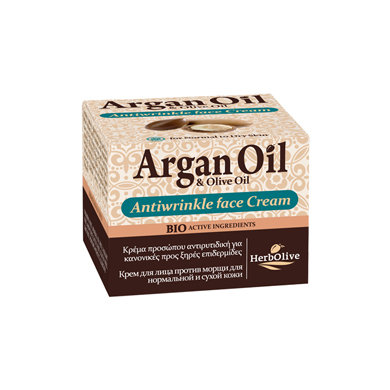 Argan oil Olive oil Antiwrinkle Cream For Normal and Dry Skin
