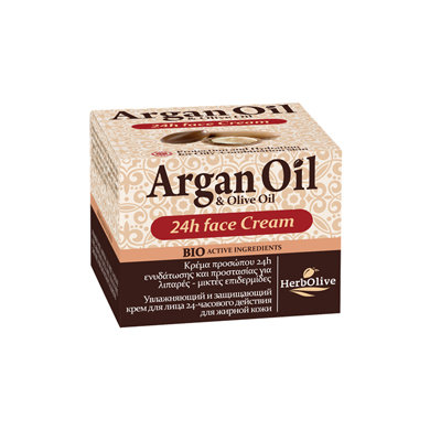 Argan oil Olive oil Cream 24Hours Oily and Combination Skin