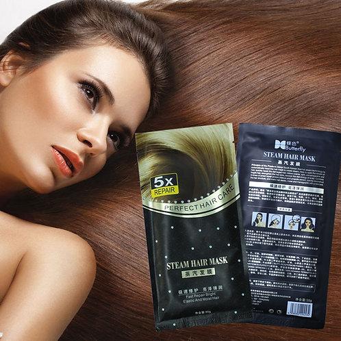 1pc  Heating Steam Hair Mask Keratin Argan Oil Treatment, Dry, Split Ends