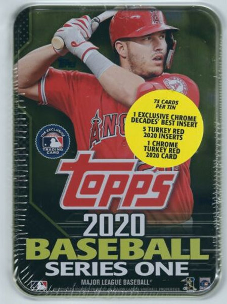 Sealed Mike Trout 2020 Topps Series 1 Collectors Tin