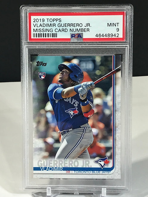 Vladimir Guerrero Jr. Rookie Topps Series 2 No Number PSA 9
