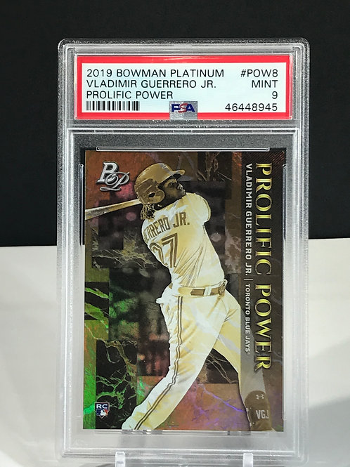 Vladimir Guerrero Jr Rookie 2019 Bowman Platinum Prolific Power PSA 9