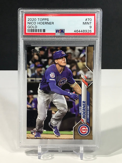 Nico Hoerner Gold Rookie 2020 Topps Series 1 PSA 9