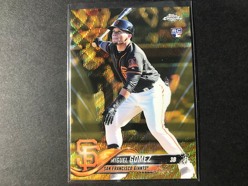 34/50 2018 Topps Chrome Miguel Gomez Gold Rookie