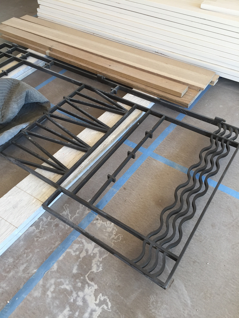 Wrought iron door grill for La Ladera Residence
