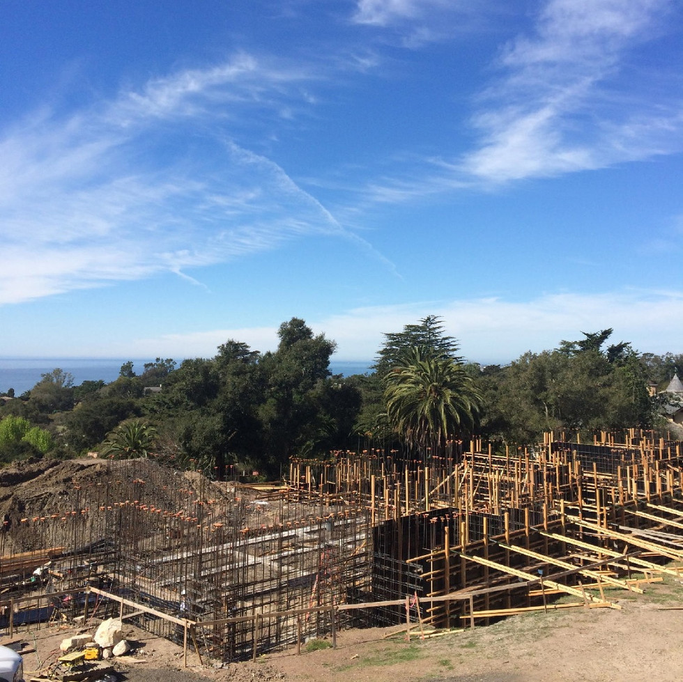 LA LADERA RESIDENCE - Rebar and Formwork Underway