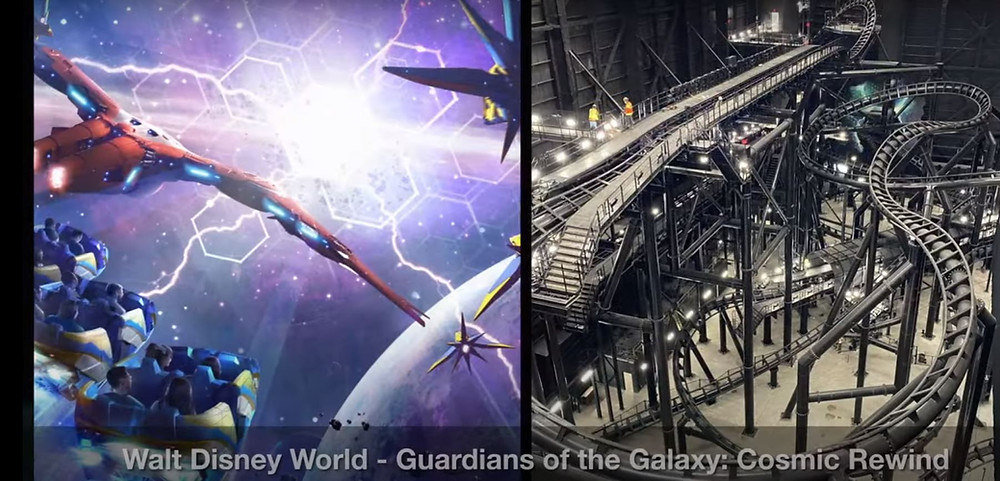 First Look Inside Guardians of the Galaxy: Cosmic Rewind Track System!