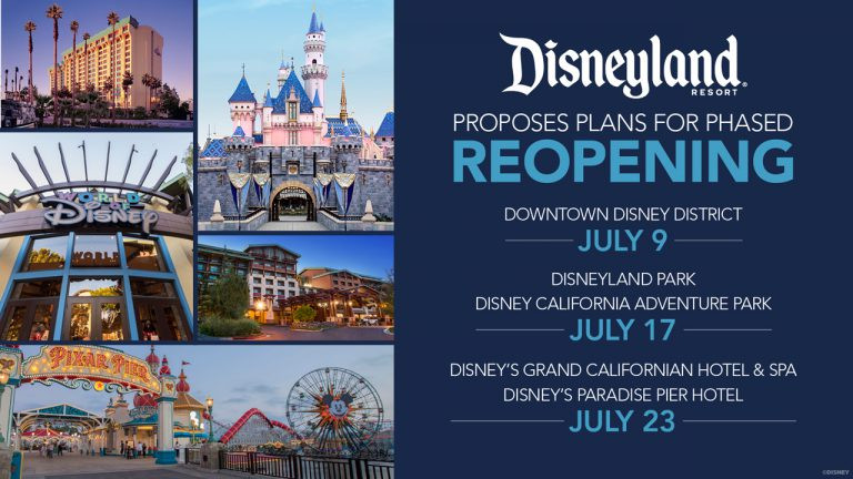 Disneyland Resort Seeks Approval to Begin Phased Reopening of Theme Parks July 17