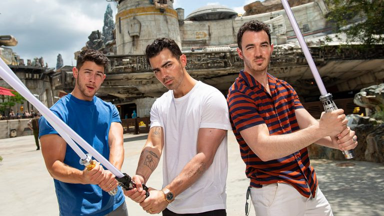 Jonas Brothers Get a Sneak Peek of Star Wars: Galaxy's Edge at Walt Disney World Resort