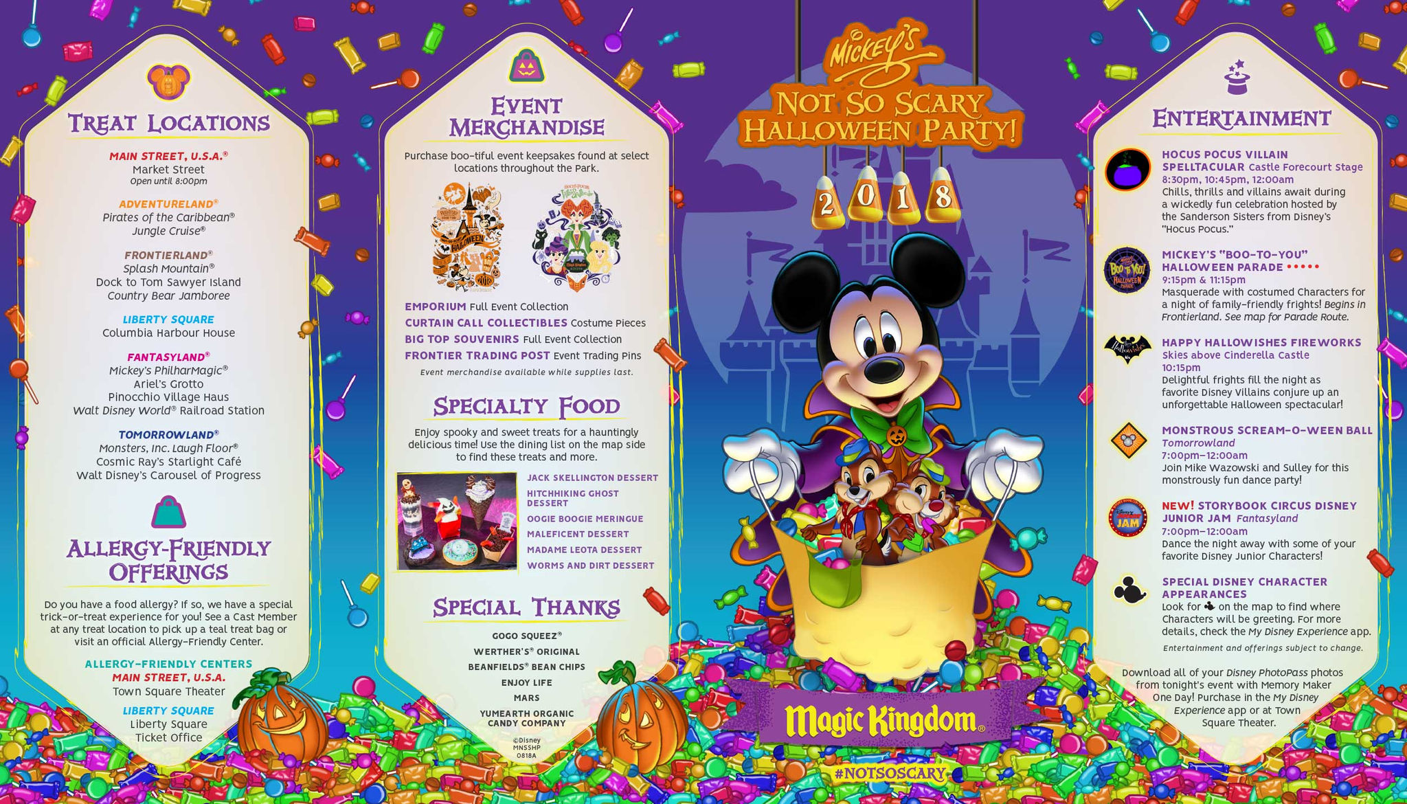 mickey's not-so-scary halloween party guide revealed