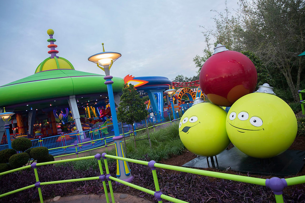 Toy Story Land Decorated for the Holiday Season!
