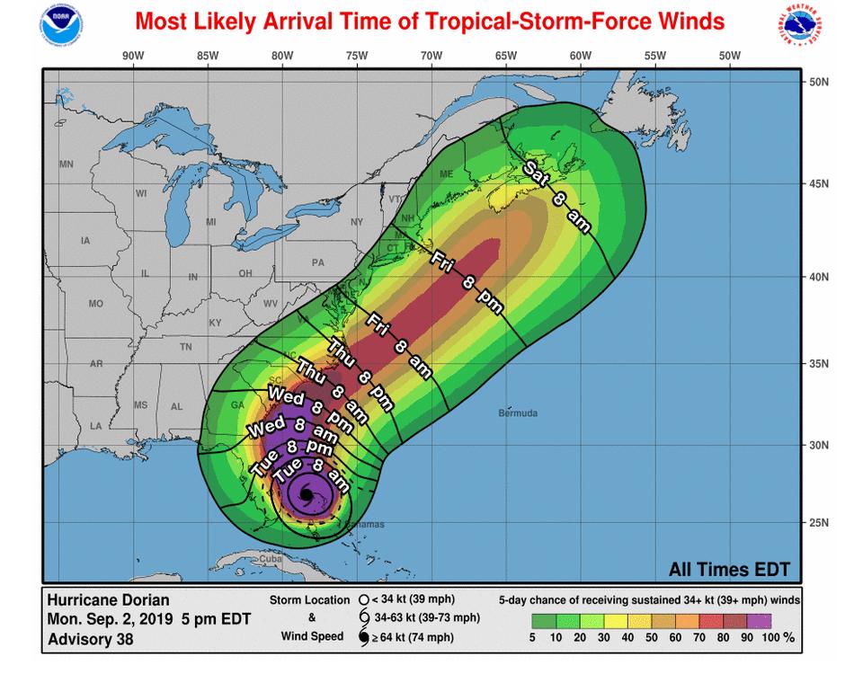 UPDATE: Hurricane Dorian Slows Down and Grows in Size Causing Shut Downs at Walt Disney World