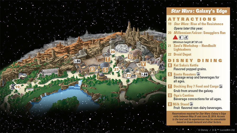 First Look at the Star Wars: Galaxy's Edge Guidemap at Disneyland Park