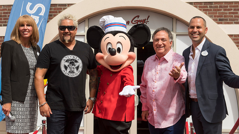Guy Fieri Visits Disney Springs for the Grand Opening of Chicken Guy!