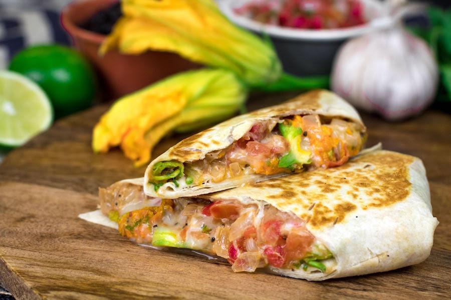 WonderFall 4R Barbacoa Cantina Food Truck Squash Quesadilla